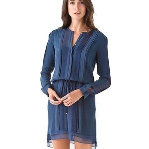 💼DVF  NEW SLICE HERON BLUE SILK  DRESS